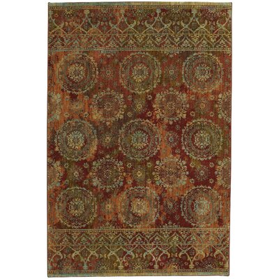 Elenora Garnet/Midnight Sapphire Area Rug Rug Size: Rectangle 53 x 710