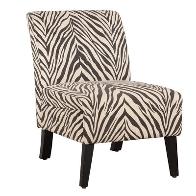 Geira Linen Zebra Slipper Chair