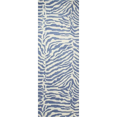 Francisco Hand-Tufted Denim Area Rug Rug Size: Runner 26 x 8