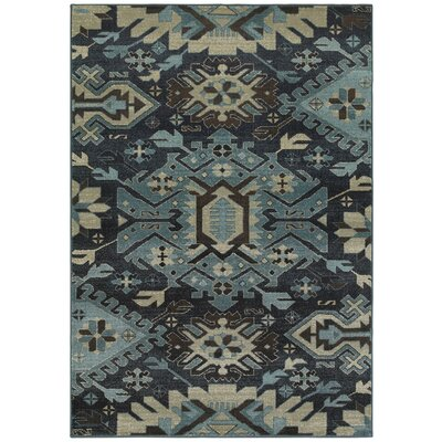 Reynolds Blues Navy/Blue Area Rug Rug Size: 53 x 76