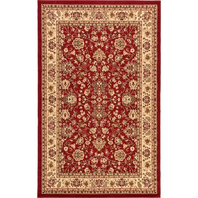 Southern Red Area Rug Rug Size: 6 x 9