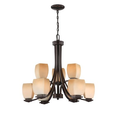 Lolitha 9-Light Shaded Chandelier