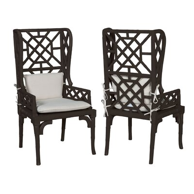 Lonara Bamboo Wingback Arm Chair