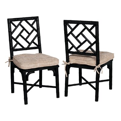 Lonaravale Side Chair Finish: Black Wood Grain