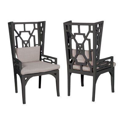 Rondalla Wing Wingback Arm Chair Finish: Classic Antique Smoke