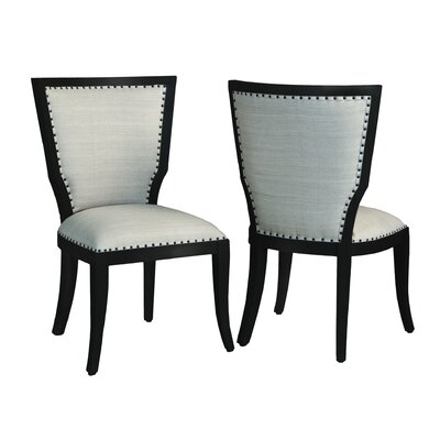 Boors Side Chair Finish: Black Wood Grain