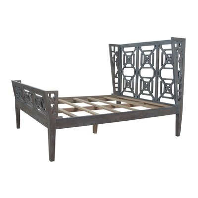 Bonaira Sleigh Bed Size: King, Finish: Manor Blue Slate