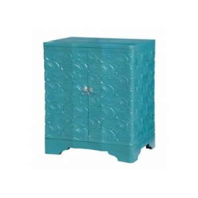 Austina Sandal Nightstand Color: Grain of Wood/Green Cyan