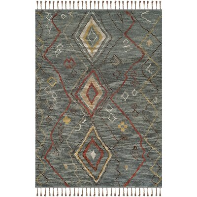 Glenoe Hand-Knotted Gray Area Rug Rug Size: Rectangle 6 x 9