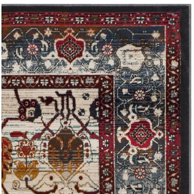 Wayne Ivory/Anthracite Area Rug Rug Size: Square 67