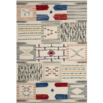 Glenoe Hand-Woven Ivory Area Rug Rug Size: Rectangle 4 x 6