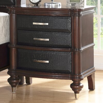 Bohemia Luxury 3 Drawer Nightstand
