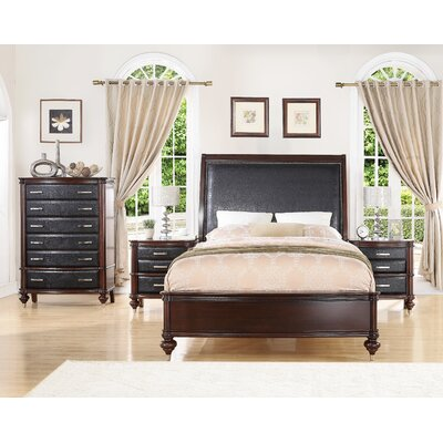 Bohemia Luxury Panel 4 Piece Bedroom Set Bed Size: King