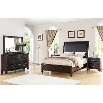 Bohemia Luxury Panel 5 Piece Bedroom Set Bed Size: King