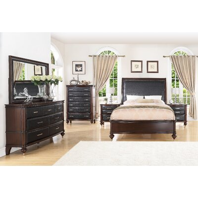 Bohemia Luxury Panel 6 Piece Bedroom Set Bed Size: Queen