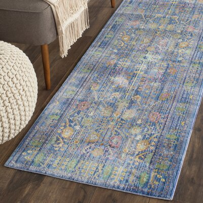 Misael Blue Area Rug Rug Size: Runner 23 x 6