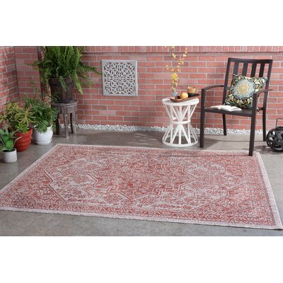 Boisdale Traditional Terra Indoor/Outdoor Area Rug Rug Size: 53 x 73