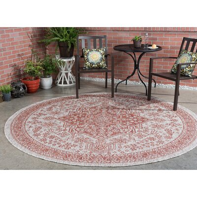 Ares Traditional Terra Indoor/Outdoor Area Rug Rug Size: Round 710
