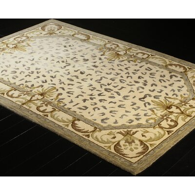 Ryleigh Hand-Tufted Ivory Area Rug Rug Size: 39 x 59