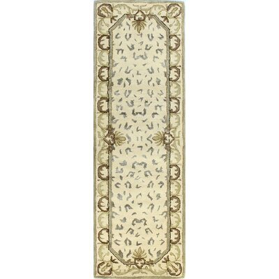 Ryleigh Hand-Tufted Ivory Area Rug Rug Size: Runner 26 x 8