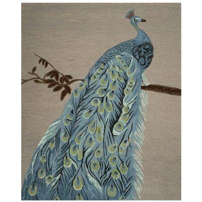 Netea Hand-Tufted Blue/Beige Area Rug Rug Size: Rectangle 8' x 10'