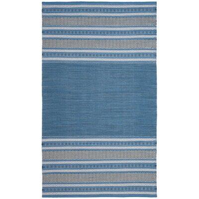 Bokara Hills Hand-Woven Blue/Gray Area Rug Rug Size: 5 x 8