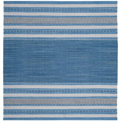 Bokara Hills Hand-Woven Blue/Gray Area Rug Rug Size: Square 6'