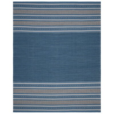 Bokara Hills Hand-Woven Blue/Gray Area Rug Rug Size: Rectangle 8 x 10