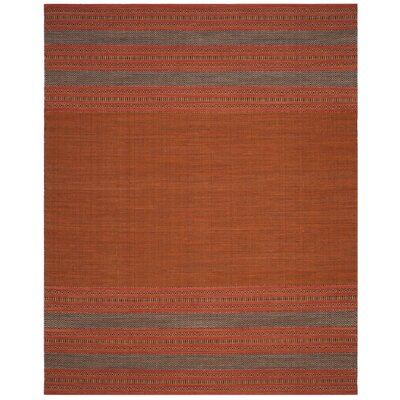Bokara Hills Hand-Woven Orange/Red Area Rug Rug Size: Rectangle 8 x 10