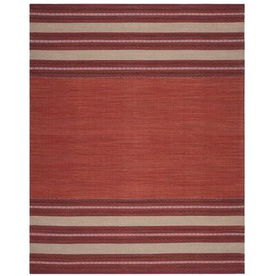 Bokara Hills Hand-Woven Red/Ivory Area Rug Rug Size: Rectangle 8' x 10'
