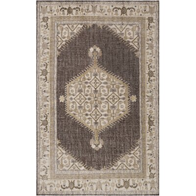 Alessi Classic Taupe Area Rug Rug size: Rectangle 2 x 3