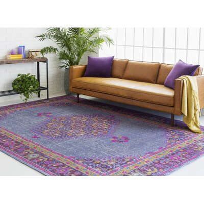 Fender Classic Iris Area Rug Rug size: Rectangle 56 x 86