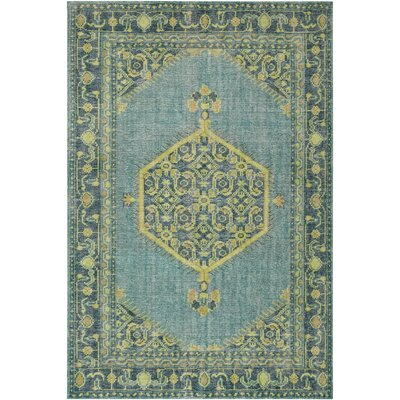 Fender Classic Green Area Rug Rug size: Rectangle 2 x 3