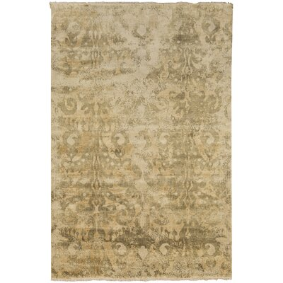 Beqal Gold/Olive Damasks Area Rug Rug Size: Rectangle 2 x 3