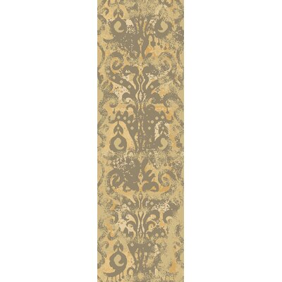 Beqal Gold/Olive Damasks Area Rug Rug Size: Runner 26 x 8