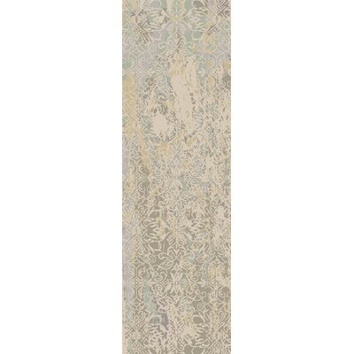 Beqal Light Gray Damask Area Rug Rug Size: Runner 26 x 8