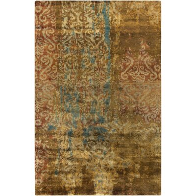 Beqal Gold Damasks Area Rug Rug Size: Rectangle 2 x 3