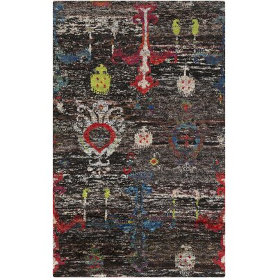 Bernie Black Area Rug Rug Size: Rectangle 5 x 8