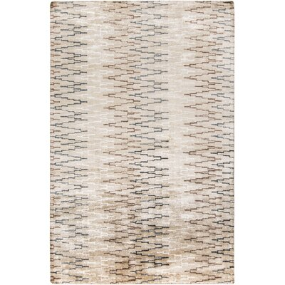 Berklee Hand-Knotted Beige Area Rug Rug Size: Rectangle 2 x 3