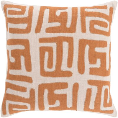 Bomaderry Throw Pillow Cover Size: 22 H x 22 W x 0.25 D, Color: OrangeBrown