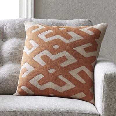 Bomaderry Throw Pillow Cover Size: 18 H x 18 W x 0.25 D, Color: OrangeBrown