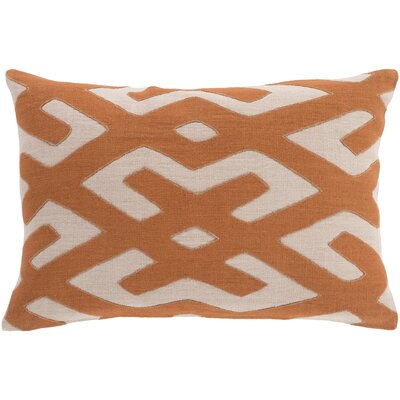 Bomaderry 100% Linen Lumbar Pillow Cover Color: OrangeBrown