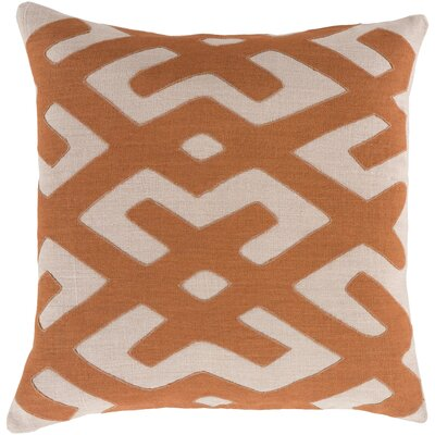 Bomaderry 100% Linen Throw Pillow Cover Size: 22 H x 22 W x 1 D, Color: OrangeBrown
