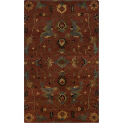Alastair Burnt Sienna Area Rug Rug Size: 9 x 13