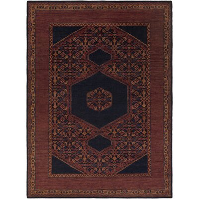 Bonefield Burgundy Oriental Area Rug Rug Size: Rectangle 36 x 56