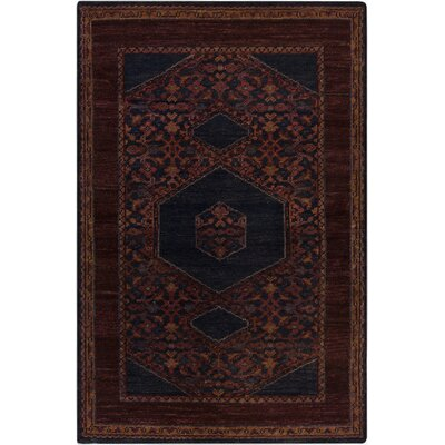 Bonefield Burgundy Oriental Area Rug Rug Size: Rectangle 56 x 86
