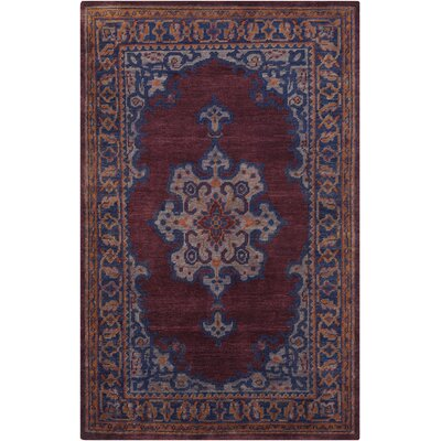 Bonefield Mauve Oriental Area Rug Rug Size: Rectangle 56 x 86