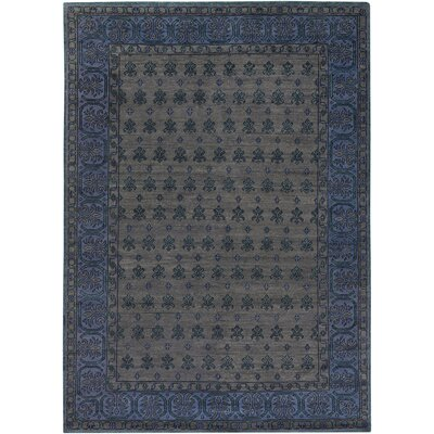 Blair Charcoal Oriental Area Rug Rug Size: Rectangle 36 x 56