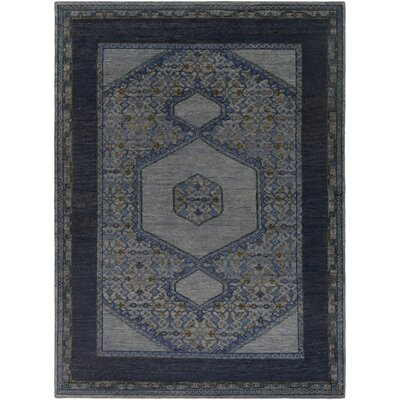 Blair Navy Oriental Area Rug Rug Size: Rectangle 9 x 13