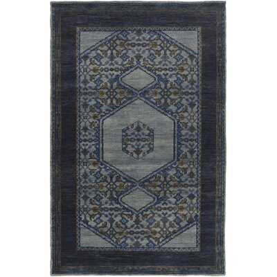 Blair Navy Oriental Area Rug Rug Size: Rectangle 56 x 86